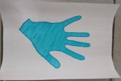 Akcja informacyjna - profilaktyka koronawirusa - prace uczniów