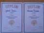 Konkurs matematyczny - dyplomy