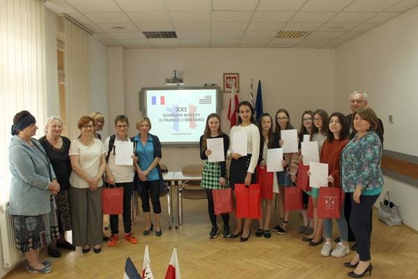 Nasze podium na Powiatowym Konkursie Wiedzy o Francji i Bretanii