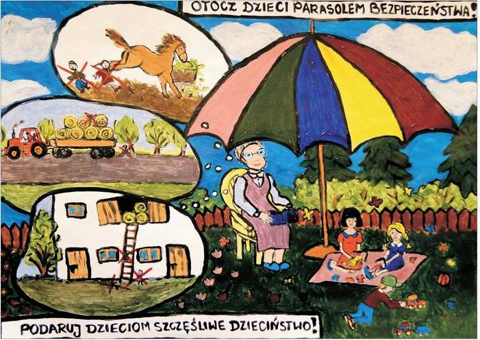 """Zajęcia """"Otocz dzieci parasolem bezpieczeństwa"""""""