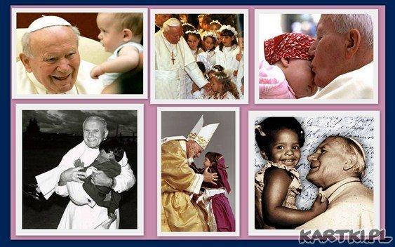 Jan Paweł II i dzieci na 100 rocznicę urodzin